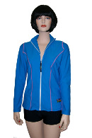 Ladies Long Sleeve Zip Sunshirt - Click for description